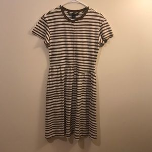 Marc by Marc Jacobs olive striped t-shirt dress XS